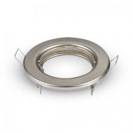 Spot encastrable rond satin nickel fixe