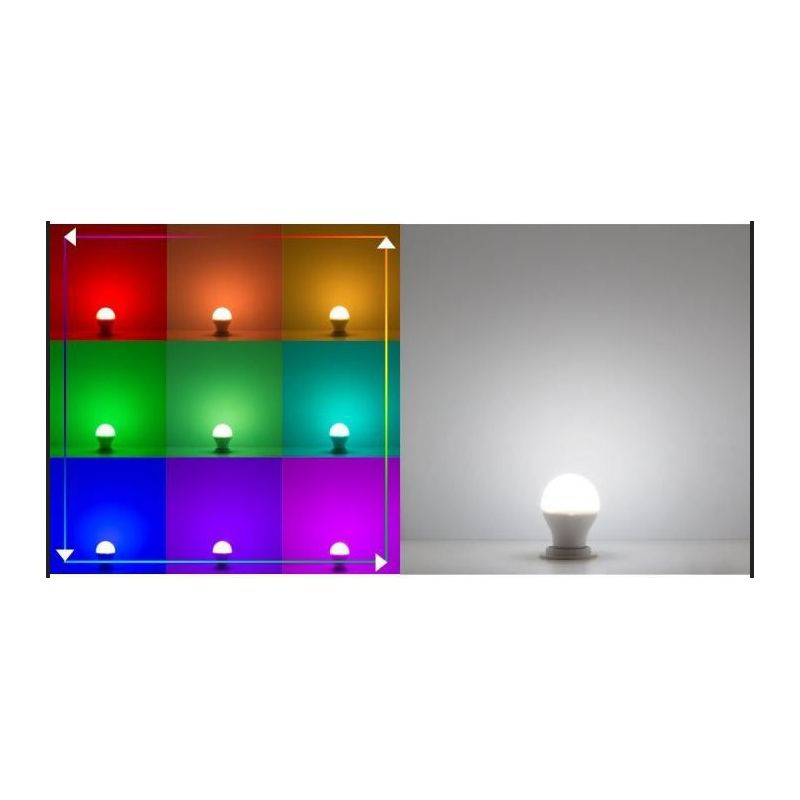 ampoule led couleur rgb e27 6w sailed. Black Bedroom Furniture Sets. Home Design Ideas