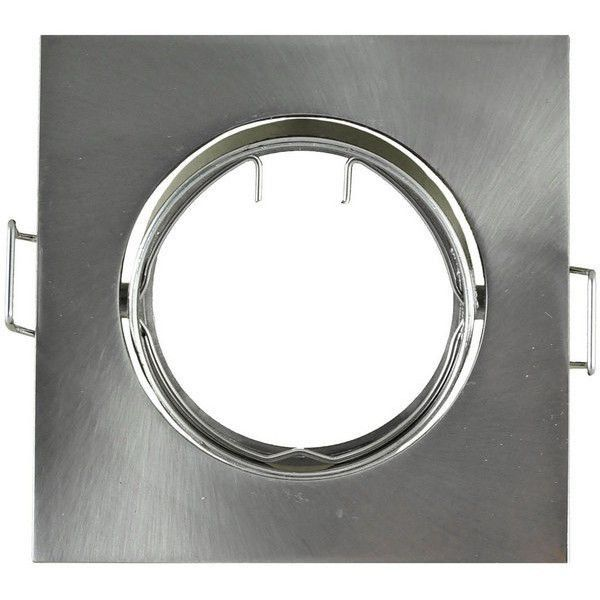 Spot encastrable carré satin nickel